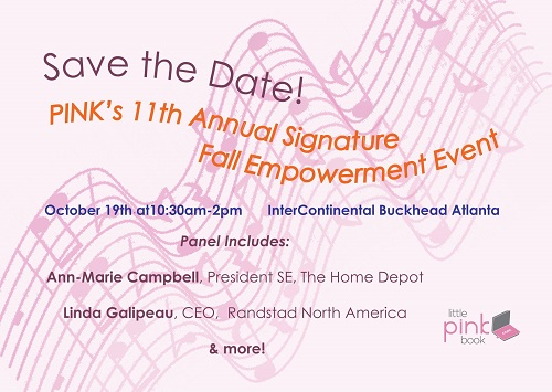 6e26448632d6e Save the Date  PINK 2015 Empowerment Event